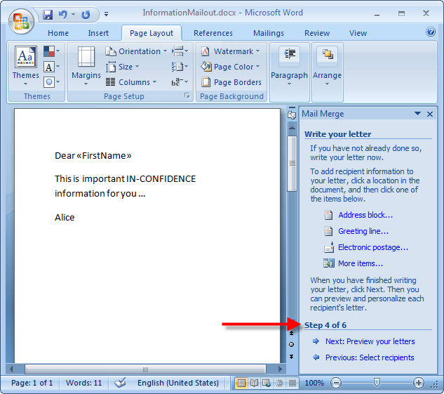 Executing a Mail Merge with janusSEAL for Outlook | janusNET