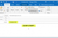 CUI compliant markings in emails